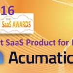 2016 SaaS Awards—Acumatica Takes First Place among ERPs